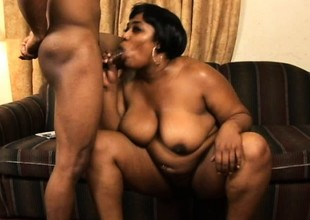 Her hairy pitch-black pussy gets correct and well supplied with whenever she gets fucked