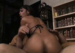 Sexy breast-feed gets her tight pussy and ass fro onto the white cock again