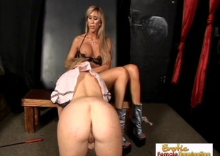Perky Flaxen Slave Is Perfect For Mistress Morgan Ray