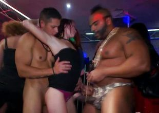 Real euroslut bungler nailed by strippers