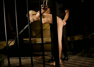 Blonde gets entangled on then headmaster fucked