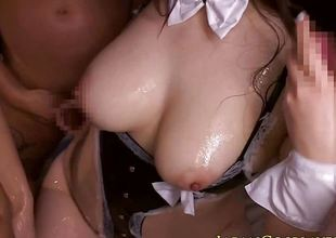Busty japanese cosplay spoil cocksucking
