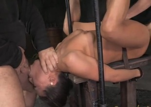Asian in steel subjection fucked wits twosome guys