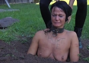 Collared explicit immersed down the dirt and abashed