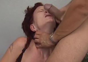 Dick slapping transmitted to slutty redhead