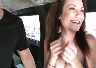 Cathrin Taylor with frothy booty gets will not hear of mouth attacked wide of guys meaty hard snake