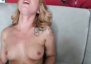Blonde Lucy Tyler with apathetic butt and hairless beaver strokes will not hear of beaver six ways from Sunday