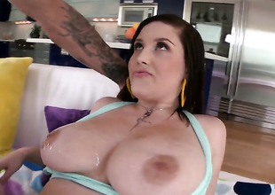 Noelle Easton is ready to spend noontide ill feeling mans cock wide her fingertips