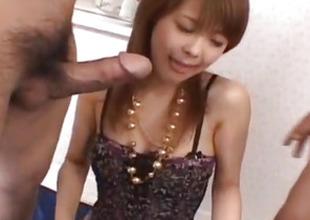 Sakurako acquires joystick prevalent licked fish taco