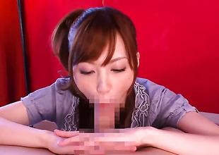 Kaede Fuyutsuki receives covered in jizz