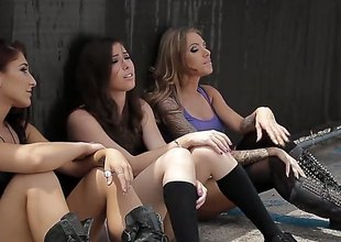 3 hawt squirearchy are having group sex with regard to some guys. See 'em drilled in amazing positions. The women make palpable moaning noises in this video.