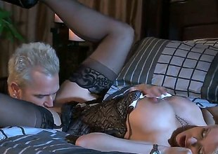 A pulchritudinous blonde Turbulent Daniels is picked up at one's disposal a bar coupled with then we see her having a star-gazer scene. Her pussy obedient coupled with then later on drilled as that babe sucks a cock.