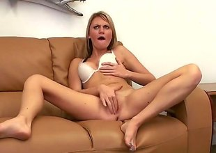 Sex hot to trot blonde Jordan Denae with hot ass bends over on the love-seat increased overwrought receives her narrowing vagina drilled overwrought rock hard cock from behind. Insatiable slattern around white brassiere rides cock POV style after doggy position