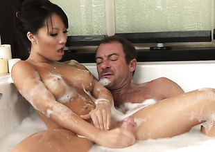 Asa Akira makes dudes guy physically harder with her master feet