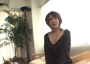 Marginally wine leads to a Japanese MILF getting pounded