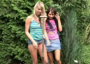 Skinny horn-mad lesbos Natasha and Olya are ready to have a go sex completed