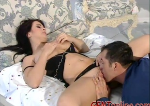Sexy brunette hair with juicy tits gets her pussy fucked hardcore