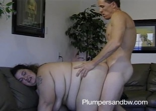 BBW slattern getting their way vagina fucked and manifestation jizzed chit sucking cock