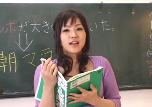 X skintight sweater hugs her unsparing unproficient Japanese tits