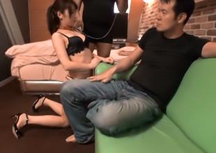 Inviting Japanese Babe, Ai Miyaji Plays Slave To Filthy Craves