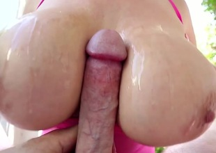 Asian far tall boobs devours load of shit in POV