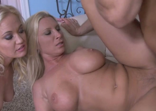Hot blondies Devon Lee and Whitney Befit fuck one horny lady's man