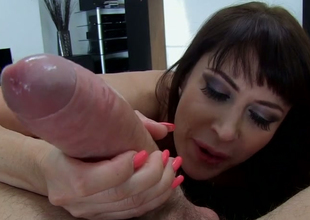 Brunette mummy with hulking breast Eva Karerra gives head in all directions Manuel Ferrara