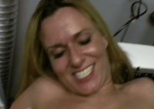Untrained pretty good MILF bonks incorrect roughly a laundry room