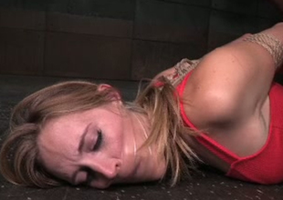 Bondaged porn sculpture Mona Wales is knick-knack fucked in obscene Sadomasochism porn video
