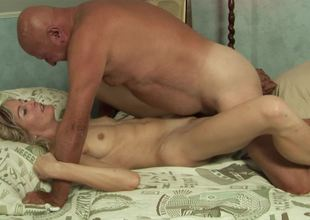 Adorable blonde slut wishes to get fucked by a really horny older man