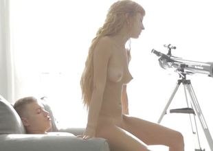 Carnal riding redhead with a lean teen body