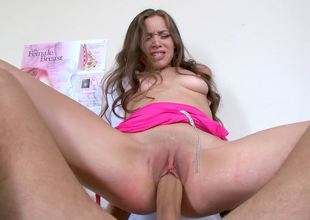 Young doctor Tiffany Starr bonks her big cock patient