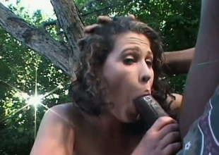 Bianca relishes every wank for a hulking dark dick apropos her hungry ass