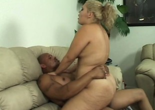 Breasty tot Vanessa Lee moves done with her darksome paramour and rides his huge dick