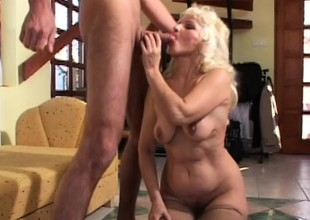 Mature granny gets their way mature cunt slammed balls deep wide of a stud