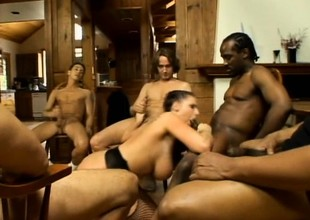 Gianna Michaels shows her skills enlistment dick after dick like a pro