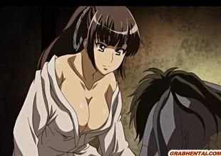 Japanese anime hard stained pussy fucked in dramatize expunge dark night