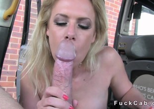Numero uno blonde acquires anal in a cab in public