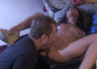 Hot blooded at a high Kaylani Lei shows her love for worm sucking