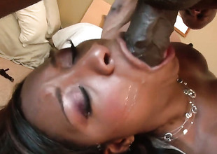 Imani In top form is stained as the ocean in this steamy interracial scene with thousands of pussy drilling