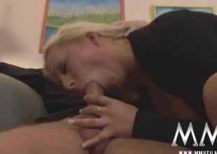 Arousing blowjob foreign a slutty German milf