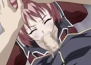 Schlong drills a left-wing haired hentai slut