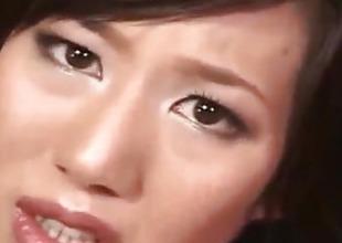 Tsubasa Okina gets vibrator relinquish crotchless