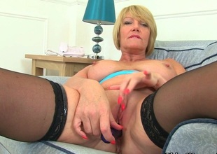 British milf Raven strips off and teases will not hear of pussy