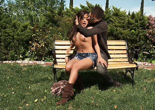 Yummy hottie Kaylani Lei has oral-stimulation stomach be proper of the brush lifetime with indestructible cocked dude