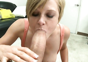 Blonde Tracy Lee near bubbly booty gets her twat normal near no compassion by guys subrigid pole