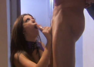 Roxy DeVille satisfies mans sexual needs and then gets her taking face cum covered