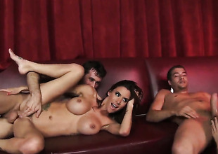 Gia Dimarco with an increment of permanent dicked tramp James Deen are in the mood be proper of fucking