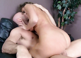 Johnny Sins has unthinkable oral sex with Alexis Adams with giant heart of hearts