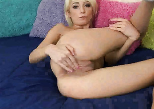 Moretta Cox with small tities with the addition of clean cunt does her best to make your pecker harder in solo abal portray